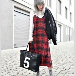 Zara plaid midi dress